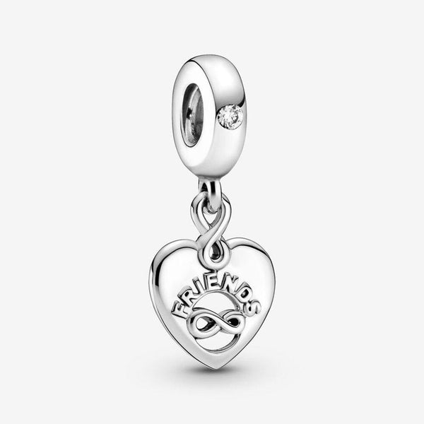 PANDORA : Friends Forever Heart Dangle Charm
