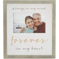"Malden :  4"" X 6"" Forever in My Heart Picture Frame - Beige"