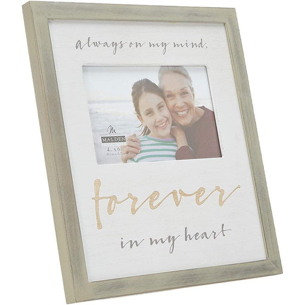 "Malden International Designs :  4"" X 6"" Forever in My Heart Picture Frame - Beige"