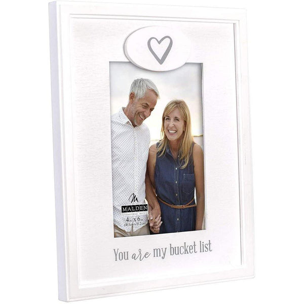 "Malden : 4"" X 6"" ""You are My Bucket List"" Picture frame - White"