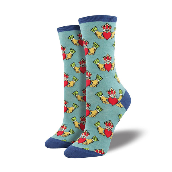Socksmith : Women's Crew Socks - Claddagh