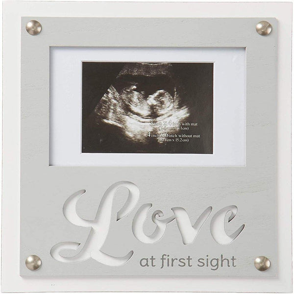 "Malden International Designs : 4"" X 6"" ""Love at first Sight"" Picture frame - White"