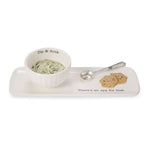Mud Pie : Ceramic Appetizer Serving Set