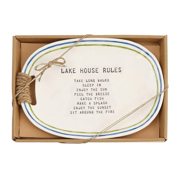 Mud Pie : Lake House Rules Plate