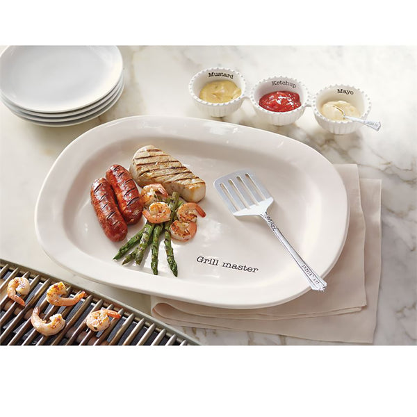 Mud Pie : Grill Master Ceramic Platter & Spatula Set