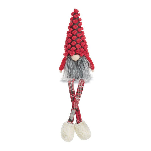 Mud Pie : Dangle Leg Holiday Gnome - Red Pom Pom Hat