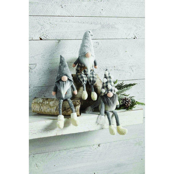 Mud Pie : Neutral Dangle Leg Gnomes (3 Asstd Styles)