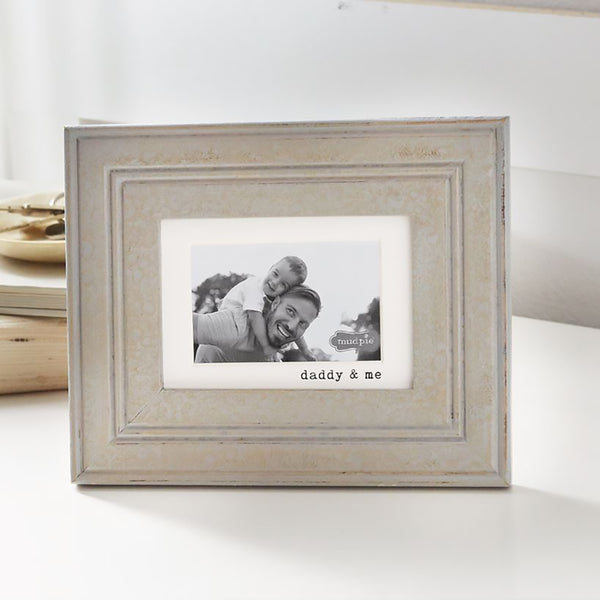 "Mud Pie : ""Daddy & Me"" Wood Photo Frame"