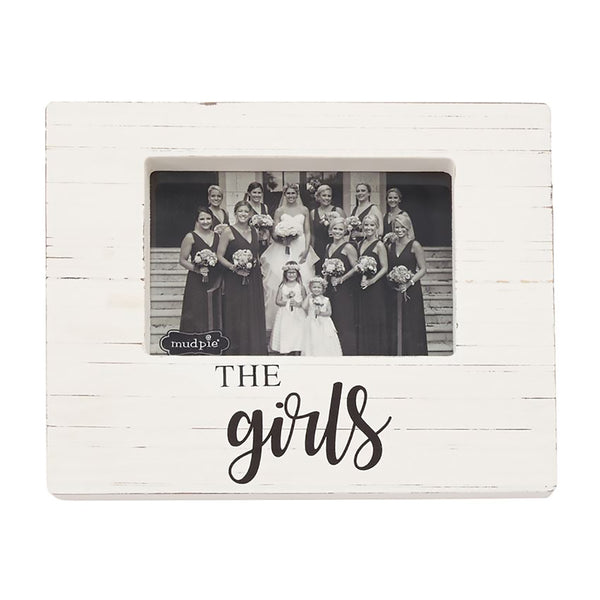 "Mud Pie : ""The Girls"" Wood Block Photo Frame"