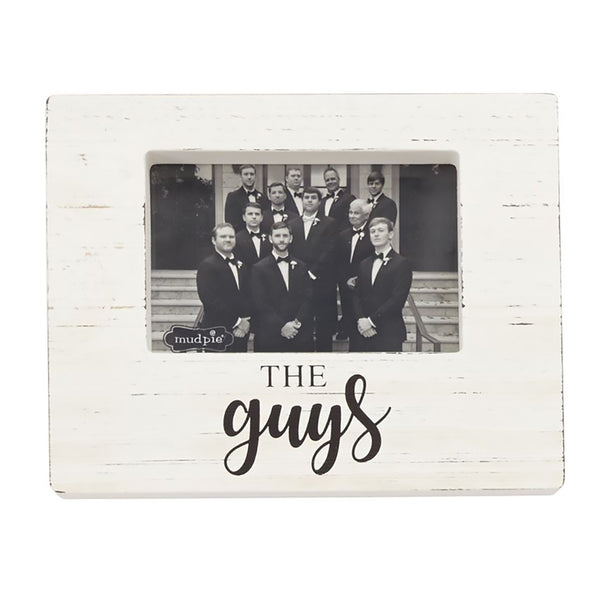 "Mud Pie : ""The Guys"" Wood Block Photo Frame"