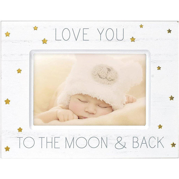 "Malden : 4"" X 6"" ""Love You To"" Wood With Gold Foil Accents Picture Frame - White"