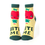 "Blue Q : Women's Ankle Socks - ""Bite Me"""