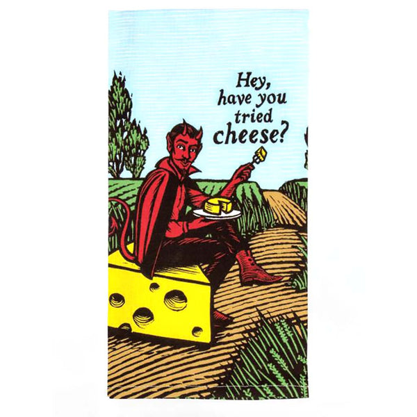 "Blue Q : Dish Towel - ""Have You Tried Cheese"""