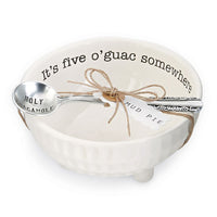 Mud Pie : Ceramic Guacamole Dip Cup & Spoon Set
