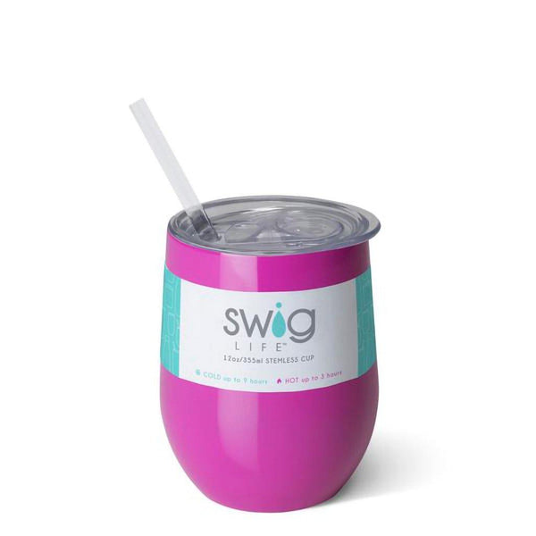 Swig : Stemless Wine Cup in Berry
