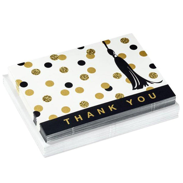 Hallmark : Dot Tassel Thank You Notes - Annie's Hallmark & Gretchen's Hallmark, Sister Stores
