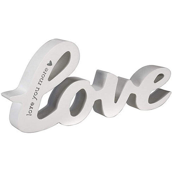 "Malden International Designs : ""Love You More"" Routed Word, 1x2 5x7, White"