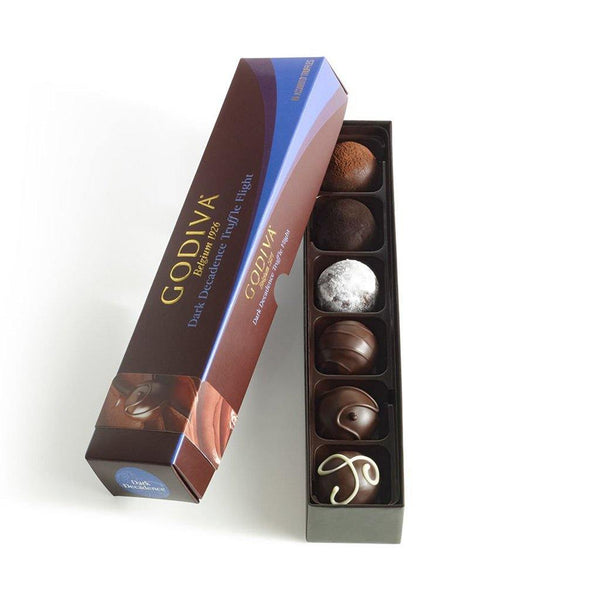 GODIVA : Dark Decadence Truffle Flight, 6 pc.