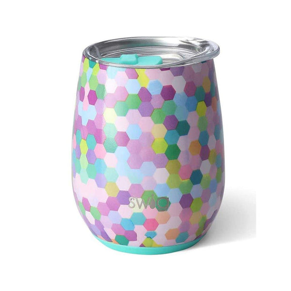 Swig : Stemless Wine Cup in Confetti Party