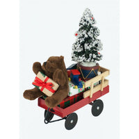 Byers' Choice : Red Wagon with Toys Figurine
