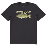 Life Is Good : Men's Bass Rendering Crusher Tee