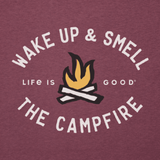 Life Is Good : Men's Smell The Campfire Cool Tee