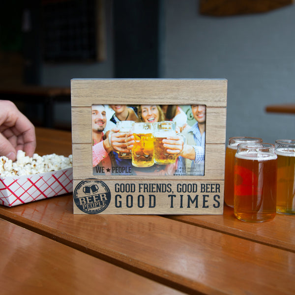 Beer People Wood Photo Frame - Annie's Hallmark Baldoria