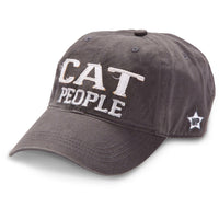 Cat People Embroidered Baseball Cap in Dark Gray - Annie's Hallmark Baldoria