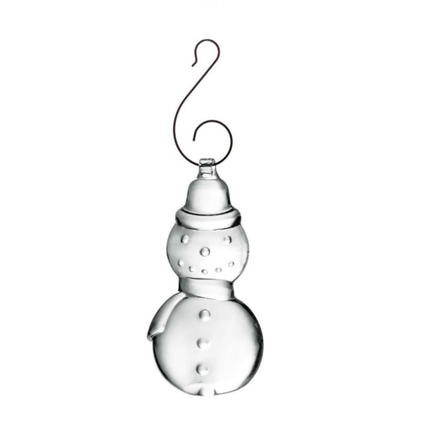 Simon Pearce : Snowman Ornament