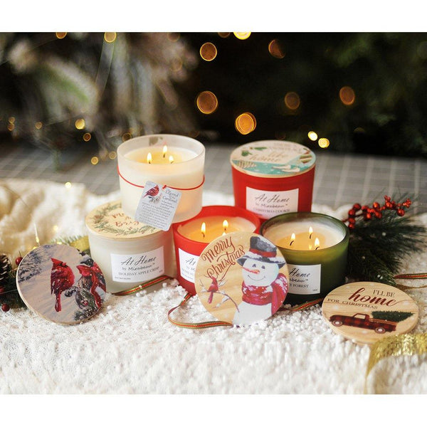 At Home by Mirabeau 12oz Soy Candles - Winter Collection (3 Asstd Styles)