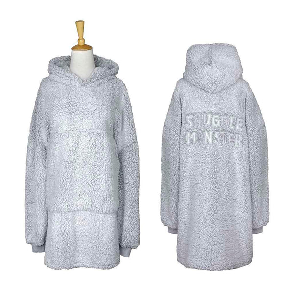 Snuggle Monster Double Sherpa Oversized Blanket Pullover
