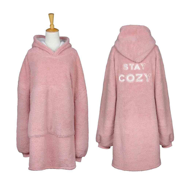 Stay Cozy Oversized Sherpa Blanket Pullover
