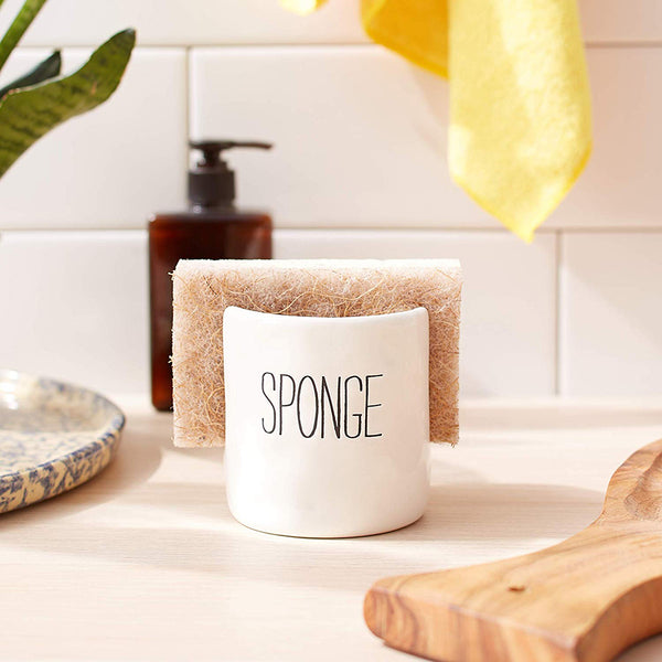 Mud Pie : Ceramic Bistro Sponge Caddy