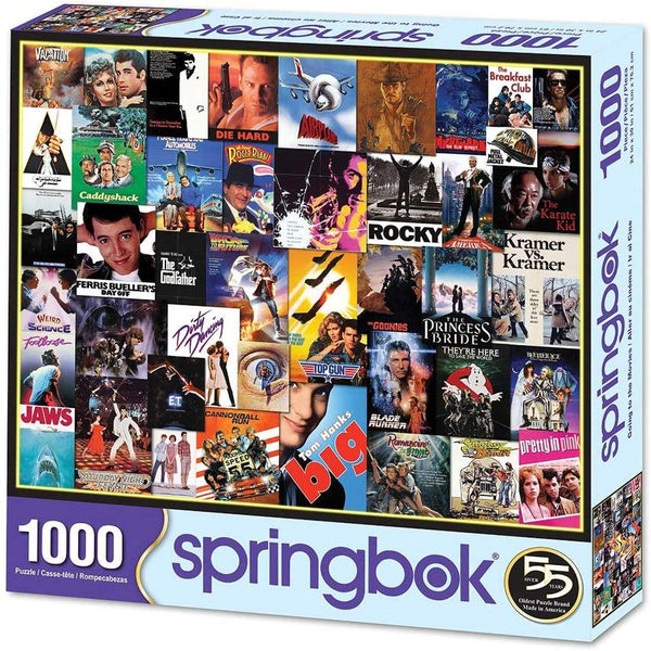 Springbok : Going To The Movies 1000 Piece Jigsaw Puzzle