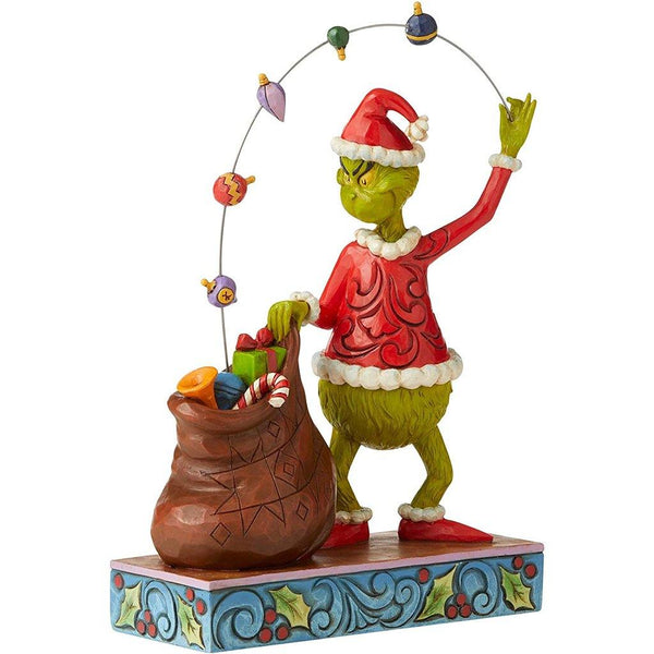 Jim Shore : Grinch Juggling Gifts Into Bag