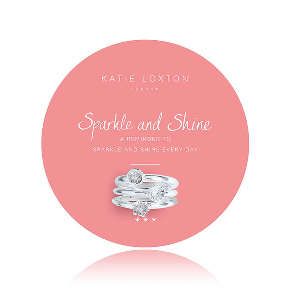 Katie Loxton : Sparkle and Shine Set-of-3 Rings