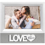 "Malden International Designs :  4 x 6 ""Love You More""  Sentiment Picture Frame"