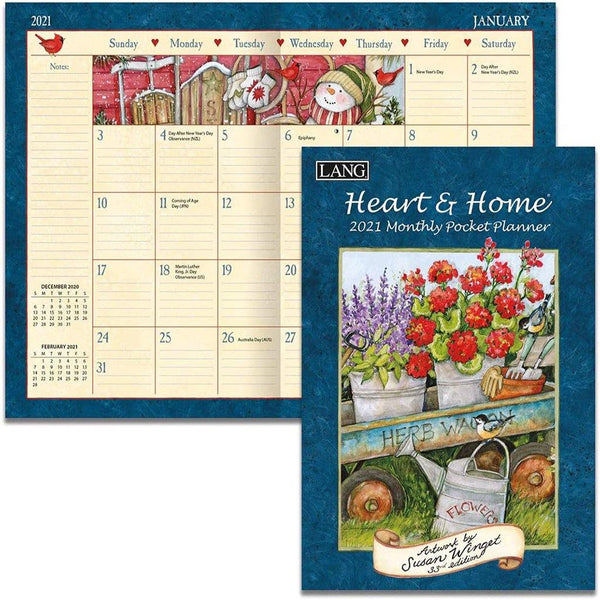 Lang : Heart & Home Monthly Pocket Planner by Susan Winget