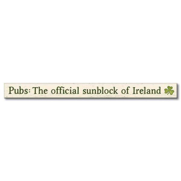 "My Word! : Pubs: The Official Sunblock - Skinnies 1.5""x16"" Sign"