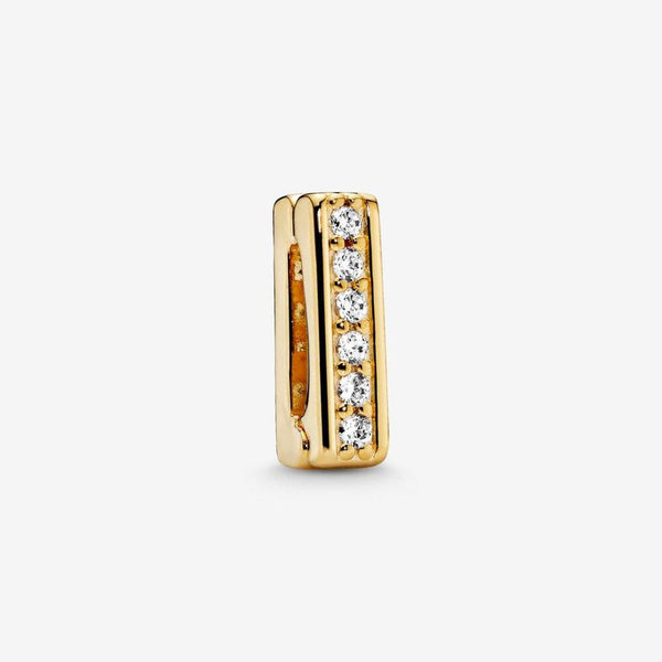 PANDORA : Sparkling Clip Charm in Gold
