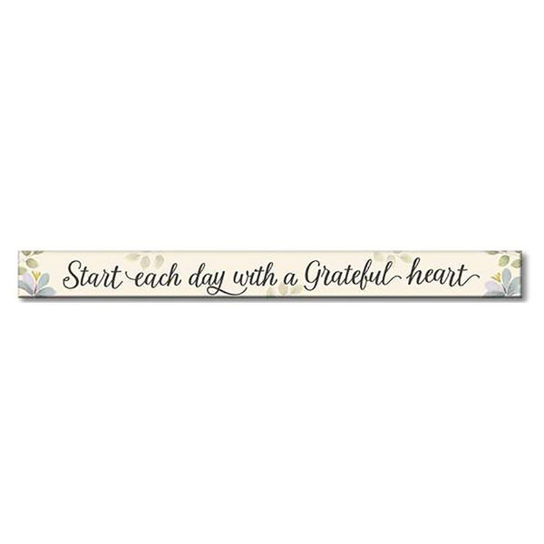 "My Word! : Start Each Day - Floral Skinnies 1.5""x16"" Sign"