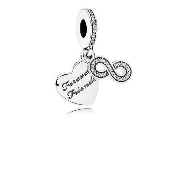 PANDORA : Forever Friends Heart Dangle Charm