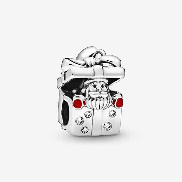 PANDORA : Santa in a Giftbox Charm