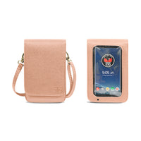 Touch Screen Cell Phone Purse in Rose Gold