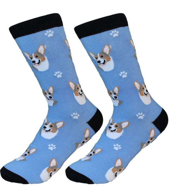 Dog Breed Crew Socks - Welsh Corgi