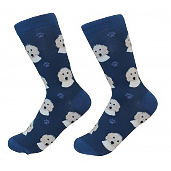 Dog Breed Crew Socks - Goldendoodle
