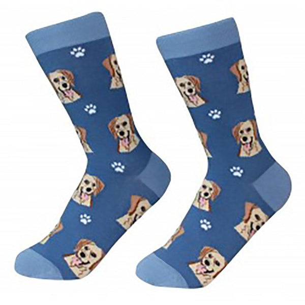 Dog Breed Crew Socks - Yellow Labrador