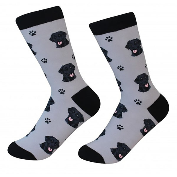 Dog Breed Crew Socks - Black Labrador - Annie's Hallmark Baldoria