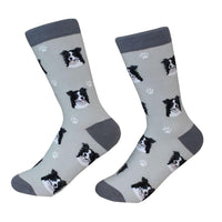 Dog Breed Crew Socks - Border Collie