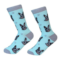 Dog Breed Crew Socks - Australian Cattle Dog